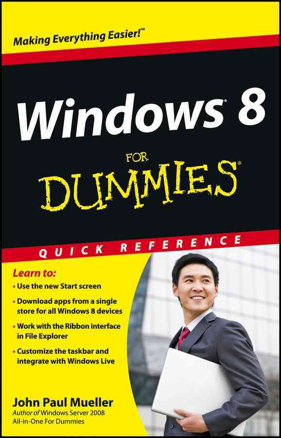 Windows 8 for Dummies Quick Reference By Mueller, John Paul
