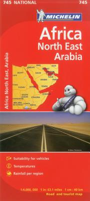 Michelin Northeast Africa & Arabia Map By Michelin Travel & Lifestyle (COR)